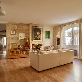 Appartement rénové, patio, 3 chambres, bureau, Bordeaux Saint-Projet