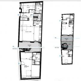 Le Bouscat mairie, Tram D, maison neuve, jardin, terrasse, dépendance, parkings